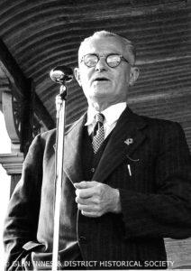 Mr Thos Agst giving speech at the Glen Eden Boys Home